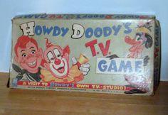 Howdy Doody TV Board Game Vintage Board Game by carriesattic, $70.00