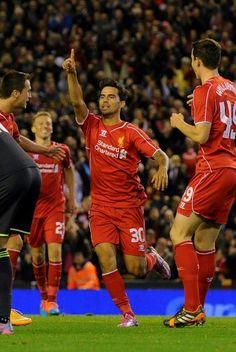 Suso puts Liverpool ahead v boro 23/9/14