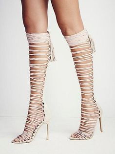 2cc2f0e37e36 Sexy Suede Knee High Gladiator High Heel Sandals 3 Colors sizes 4 to 12 -  Savage