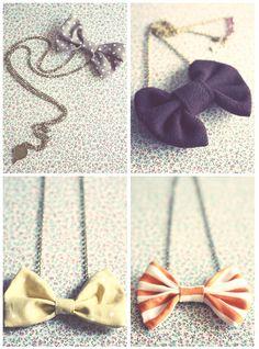 Beautiful bow pendants