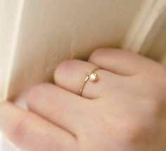 stacking ring  thin gold ring  delicate gold glimmer by windowsill, $32.00