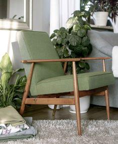 Fotel PRL, renowacja mebli, H. Lis, lisek, Lekka Furniture 14 Home Room Design, House Rooms, Interior Inspiration, Accent Chairs, Ikea, Armchair, Furniture Design, Architecture, Makeup Ideas