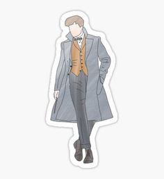 Newt Scamander stickers featuring millions of original designs created by independent artists. Harry Potter Stickers, Harry Potter Theme, Cool Stickers, Printable Stickers, Beast Wallpaper, Aesthetic Stickers, Fantastic Beasts, Sticker Design, Cute Drawings