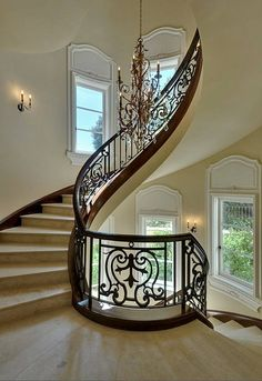Love this! This is the kind of staircase that makes you stop, take a look and admire the craftsmanship.