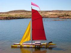 It is a pretty fun game. Diy Boat, Catamaran, Golden Gate Bridge, Fun Games, Rigs, Kayaking, Crates, Outdoor Decor, Image