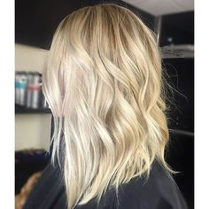 True blonde. Color by @theblondebrunetteaz #hair #hairenvy #haircolor #blonde #balayage ...