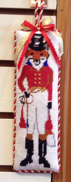 FoxMaster by Bonnie Alexander stitched by a Po's Point customer.www.posneedlepoint.com
