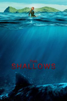The Shallows - Blake Lively - 2016 - thriller - movie poster - sharks - scary. Just saw this movie and I really enjoyed it - very suspenseful. Blake Lively, 10 Film, Movies Showing, Movies And Tv Shows, The Shallows Movie, Movies To Watch, Good Movies, Film Thriller, Film 2016