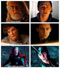 People use this as a way to explain how wrapped up Loki is in his own insecurity that he fails to see how his family loves him.  Frankly, if I were Loki, I wouldn't believe them either.  Especially Odin and Thor.
