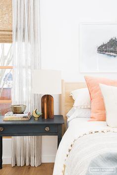 Relaxing bedroom with modern boho touches. Amber Interiors x Urban Outfitters