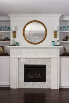 Built In Fireplace And Cabinets Tutorial - Dream Book Design