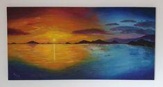 2016 - Sonnenuntergang Acryl auf Leinwand 50 x 100 cm #Sonnenuntergang #Sunset #Acrylgemälde #KunstaufLeinwand #Kirsche-Art Painting, Art, Art On Canvas, Acrylic Art, Cherry, Lighthouse, Sunset, Idea Paint, Pictures