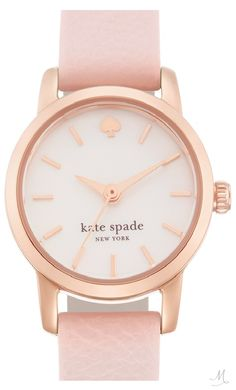 kate spade new york 'tiny metro' leather strap watch