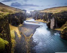 Iceland, Fjadrargljufur Canyon [OC] [1280 × 1024] Check this blog!