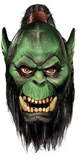 World Of Warcraft Deluxe Latex Mask, Orc, Brown, One Size for sale