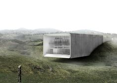 An environmental office in Costa Rican rain forest that operates as a natural wind tunnel
