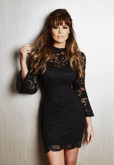 Jessica Wright launched her brand new A/W 15 collection today, including this little black lacy dress, £70