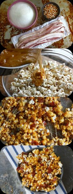 Spicy Caramel Bacon Popcorn. What the hell...?...now I wanna try it