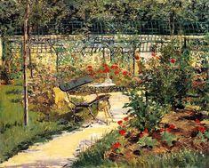 Manet  jardín  1881
