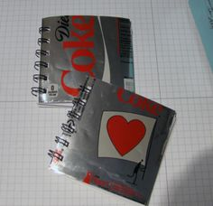 To celebrate Earth Day The Two Paper Divas created these super cute mini notebooks made from recycled coke cans. I am a huge fan of upcycli. Soda Can Crafts, Diy And Crafts, Crafts For Kids, Book Crafts, Metal Crafts, Recycled Crafts, Coca Cola Mini, Paper Divas, Pop Cans