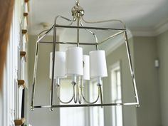 """The Sylvan chandelier, designed by Libby Langdon, is Carson Kressley's favorite Crystorama light. He told Crystorama's blog that """"it's so classic it works everywhere and adds tailored sophistication to any space."""" You can bring it to your home too!   #designerlights #libbylangdon #crystorama #carsonkressley #lanternlights #chandeliers #transitionalstyle #transitionallighting #lightingideas #LoveLightsOnline"""