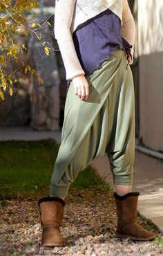 Boho hippie stylish harem pants with elastic waist.., via Etsy.