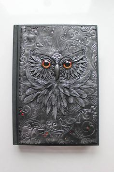 Owl journal.  So beautiful.  I'm not sure if I'd be able to write in it.