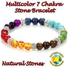 Multicolor 7 Chakra Stone Bracelet