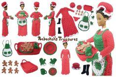 Moda de la muñeca de la Navidad Modelo del ganchillo Bundle - Tesoros de Rebeckah