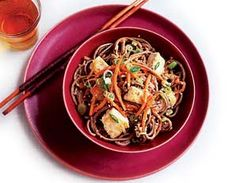 Peanut Noodles with Tofu  http://www.prevention.com/weight-loss/flat-belly-diet/flat-belly-diet-recipes-78