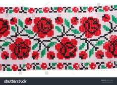 Photo color pattern embroidered with a cross in the national Ukrainian style