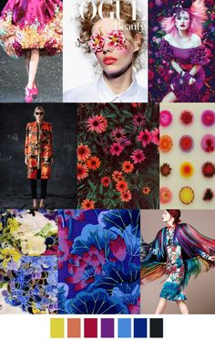 Trends forecasting: 12 patterns that you will love ~~IN BLOOM Fashion Design Inspiration, Color Inspiration, Fashion Colours, Colorful Fashion, Color Trends, Color Combos, Color Patterns, Print Patterns, Color 2017