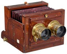 Stereo Wet-Plate Camera by Murray & Heath, London, c. : Lot 219
