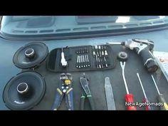 How To Install Car Audio : Rear Speaker Installation : 93 Nissan Sentra - YouTube