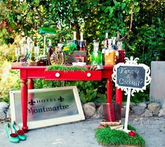 champagne bar set up - Melissa Munding Photography  This could be a snow cone station for a child's party