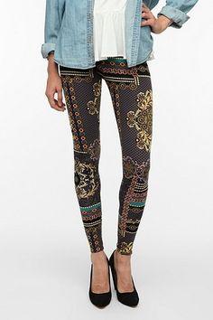 Urban brocade leggings
