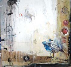 Małgorzata Lazarek: ptak olej -płótno