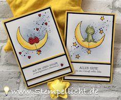 Baby- und Hochzeitskarte mit Love you Lots und Moon Baby von Stampin Up