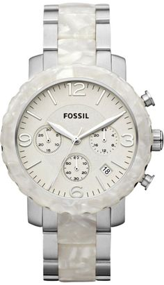 #Fossil Women's JR1420 Natalie Stainless Steel Two-Tone #Watch