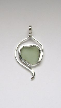 Sterling Rare UV Sea Glass Pendant by SignetureLine on Etsy, $65.00