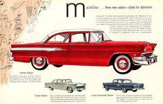 1956 Ford Mainlines: Fordor Sedan, Tudor Sedan and Tudor Business Sedan