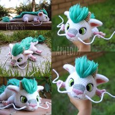 Baby Haku by on DeviantArt Crochet Patterns Amigurumi, Amigurumi Doll, Crochet Dolls, Crochet Baby, Knit Crochet, Crochet Crafts, Yarn Crafts, Crochet Projects, Sewing Crafts