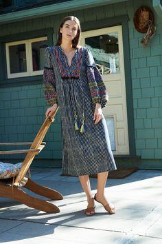 Ilene Embroidered Cotton Kaftan Dress, Velvet by Graham and Spencer.