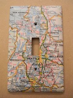 Maps / 19 Adorable Ways To Decorate A Light Switch Cover (via BuzzFeed)