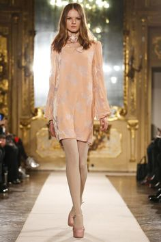 Blugirl Ready To Wear Fall Winter 2014 Milan - Cute silhouette to recreate. Change the color & add embellishments for that bridal look. Ask your dressmaker for suggestions.
