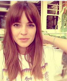 If I were to cut my bangs they'd come out like this- never fails to get piece-y on me.