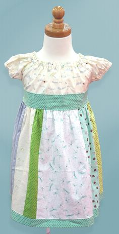 Little Buggers fabric is perfect for little girls dresses! Featured here is a dress by @izzynivydesigns