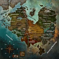 Thunderscape: The World of Aden by Kyoudai Games, LLC Dnd World Map, Fantasy World Map, Fantasy City, Fantasy Places, Dungeons And Dragons, Imaginary Maps, Rpg Map, Map Layout, Dungeon Maps