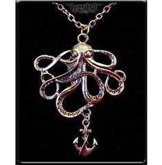Octopus & Anchor Necklace
