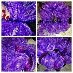 Mesh ribbon wreaths!
